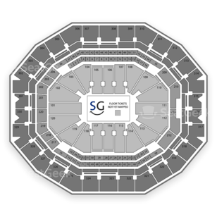 KFC Yum! Center Seating Chart Classical