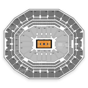 KFC Yum! Center Seating Chart NCAA Womens Basketball