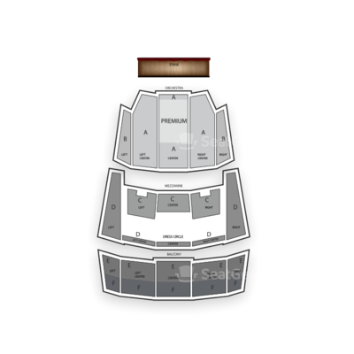 Queen Elizabeth Theatre seating chart The Book of Mormon