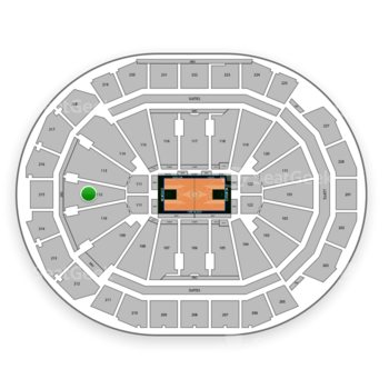 Milwaukee Bucks at Fiserv Forum Section 112 View