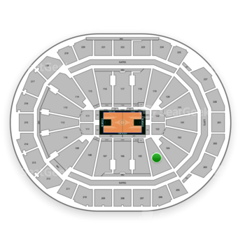Milwaukee Bucks at Fiserv Forum Section 104 View