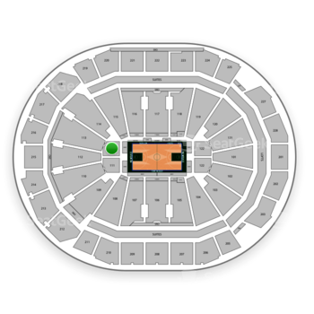 Milwaukee Bucks at Fiserv Forum Section 111 View