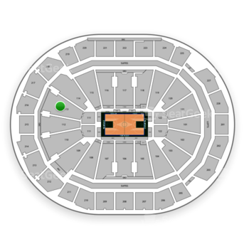 Milwaukee Bucks at Fiserv Forum Section 113 View