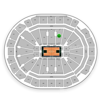 Milwaukee Bucks at Fiserv Forum Section 118 View