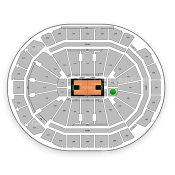 Milwaukee Bucks at Fiserv Forum Section 122 View