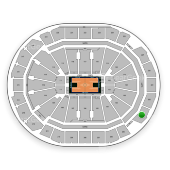 Milwaukee Bucks at Fiserv Forum Section 203 View