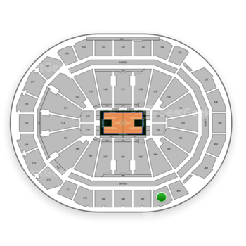 Milwaukee Bucks at Fiserv Forum Section 206 View