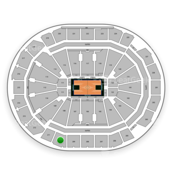 Milwaukee Bucks at Fiserv Forum Section 210 View