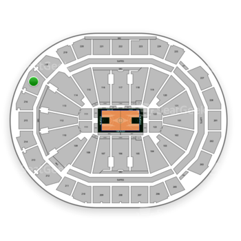 Milwaukee Bucks at Fiserv Forum Section 217 View