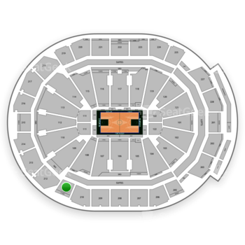 Milwaukee Bucks at Fiserv Forum Section 211 View