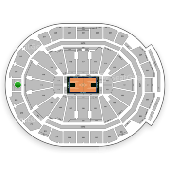 Milwaukee Bucks at Fiserv Forum Section 215 View