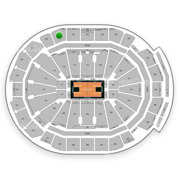 Milwaukee Bucks at Fiserv Forum Section 220 View
