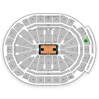 Milwaukee Bucks at Fiserv Forum Section 228 View