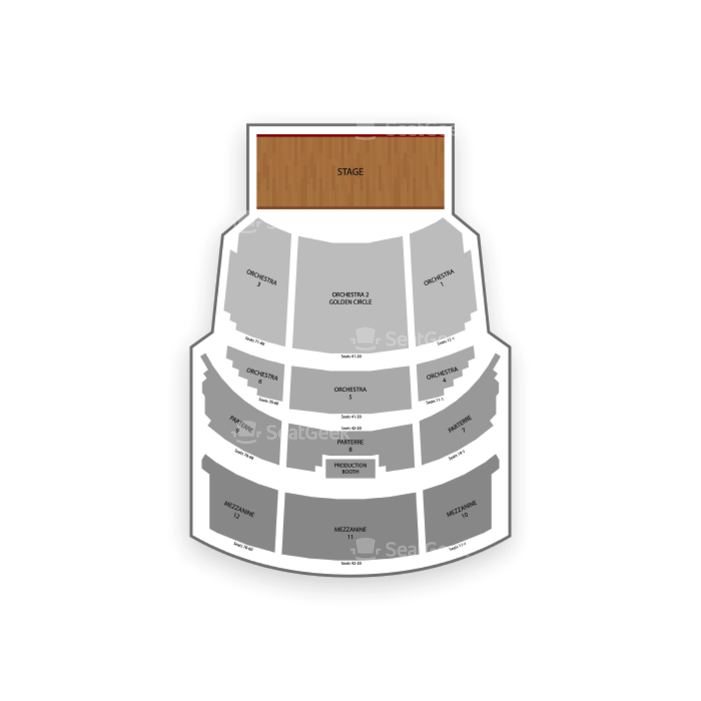 The Venetian Seating Chart Theater