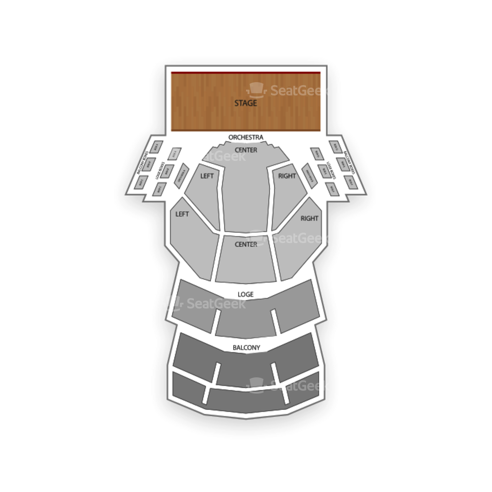 Procter and Gamble Hall Seating Chart Concert