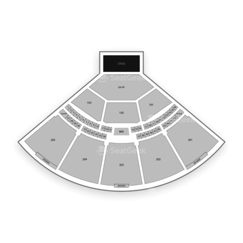 Brandon Amphitheater Seating Chart Concert