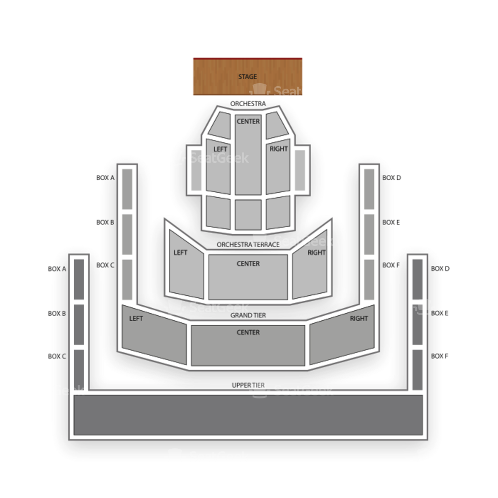 Mondavi Center UC Davis Seating Chart Concert