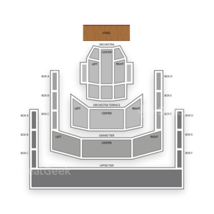 Mondavi Center UC Davis Seating Chart Classical Opera
