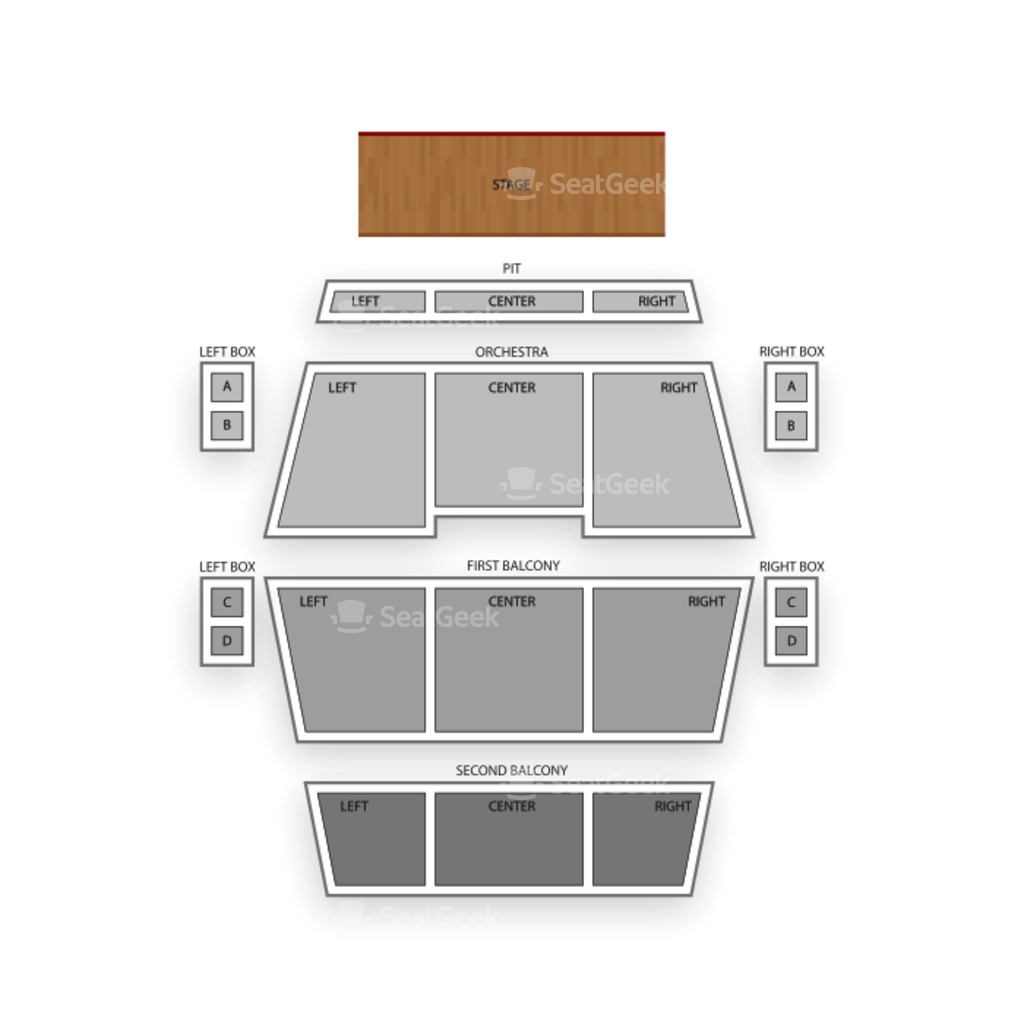 Fitzgerald theater seating chart interactive seat map seatgeek