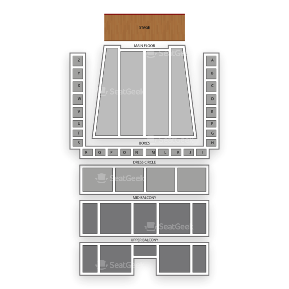 Detroit Symphony Hall Seating Chart Concert