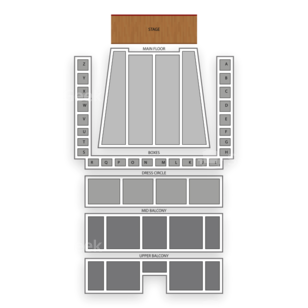 Orchestra Hall Seating Chart Dance Performance Tour