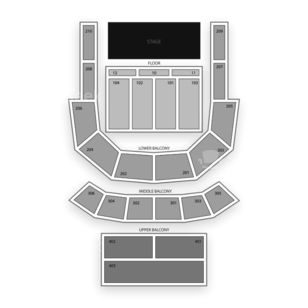 The Tabernacle Seating Chart Theater