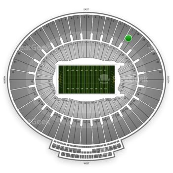 UCLA Bruins Football at Rose Bowl Section 1 View
