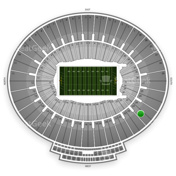 UCLA Bruins Football at Rose Bowl Section 23 View