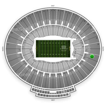 UCLA Bruins Football at Rose Bowl Section 25 View