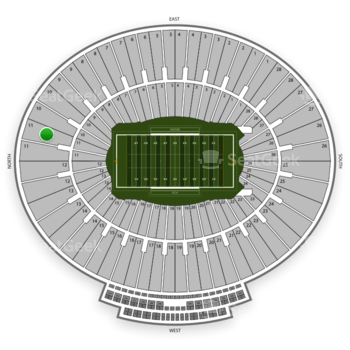 UCLA Bruins Football at Rose Bowl Section 11 View