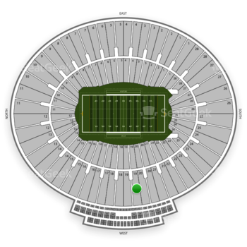 UCLA Bruins Football at Rose Bowl Section 19 View