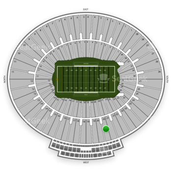 UCLA Bruins Football at Rose Bowl Section 20 View