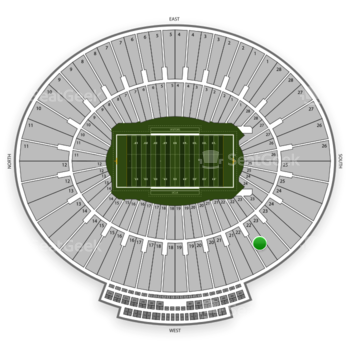 UCLA Bruins Football at Rose Bowl Section 22 View
