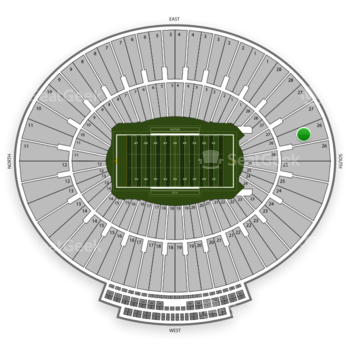 UCLA Bruins Football at Rose Bowl Section 26 View