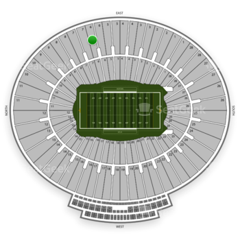 UCLA Bruins Football at Rose Bowl Section 6 View