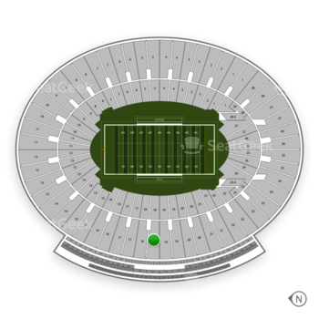 UCLA Bruins Football at Rose Bowl Section 18 View