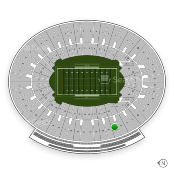 UCLA Bruins Football at Rose Bowl Section 21 View