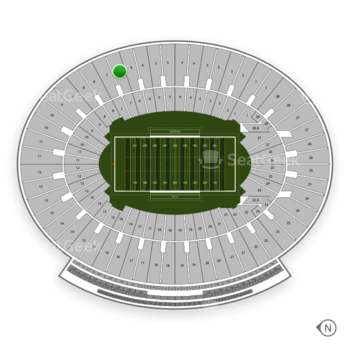 UCLA Bruins Football at Rose Bowl Section 7 View