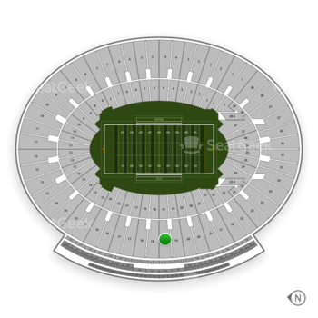 UCLA Bruins Football at The Rose Bowl Section 19 View