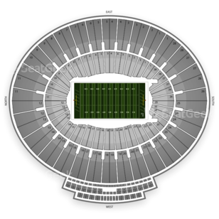 Rose Bowl Seating Chart NCAA Football