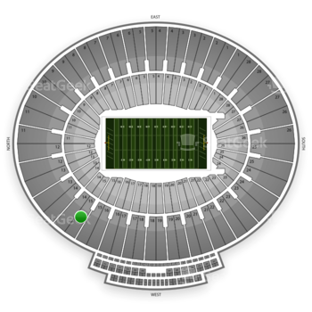 BCS National Championship Game at Rose Bowl Section 15 View