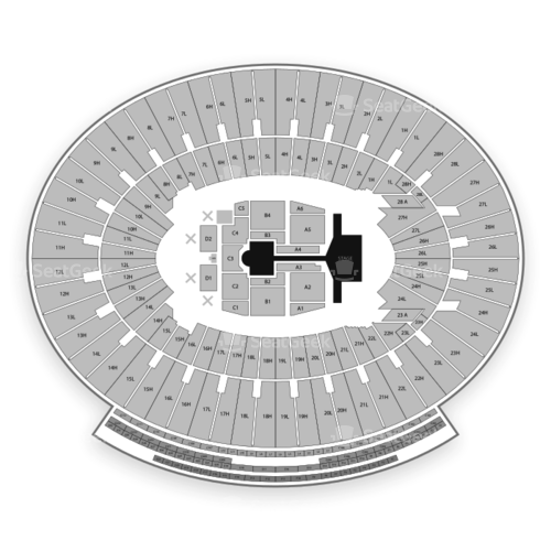 The Rose Bowl Seating Chart Concert