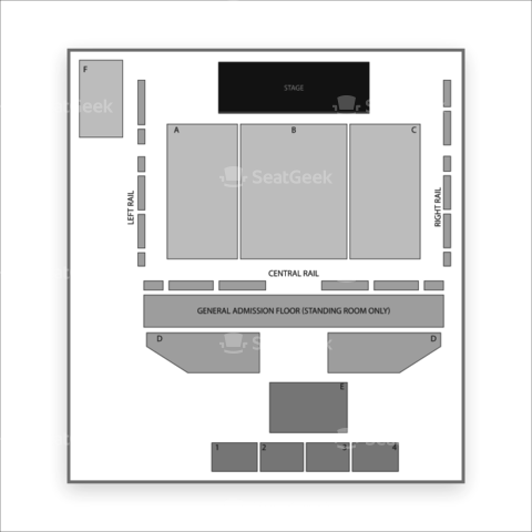 The Palladium Ballroom seating chart Soundgarden