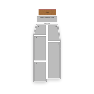The Fillmore Auditorium Seating Chart Concert