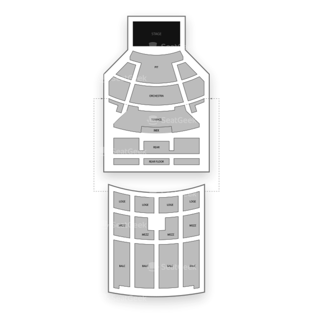 Fox Theater - Oakland Seating Chart Concert