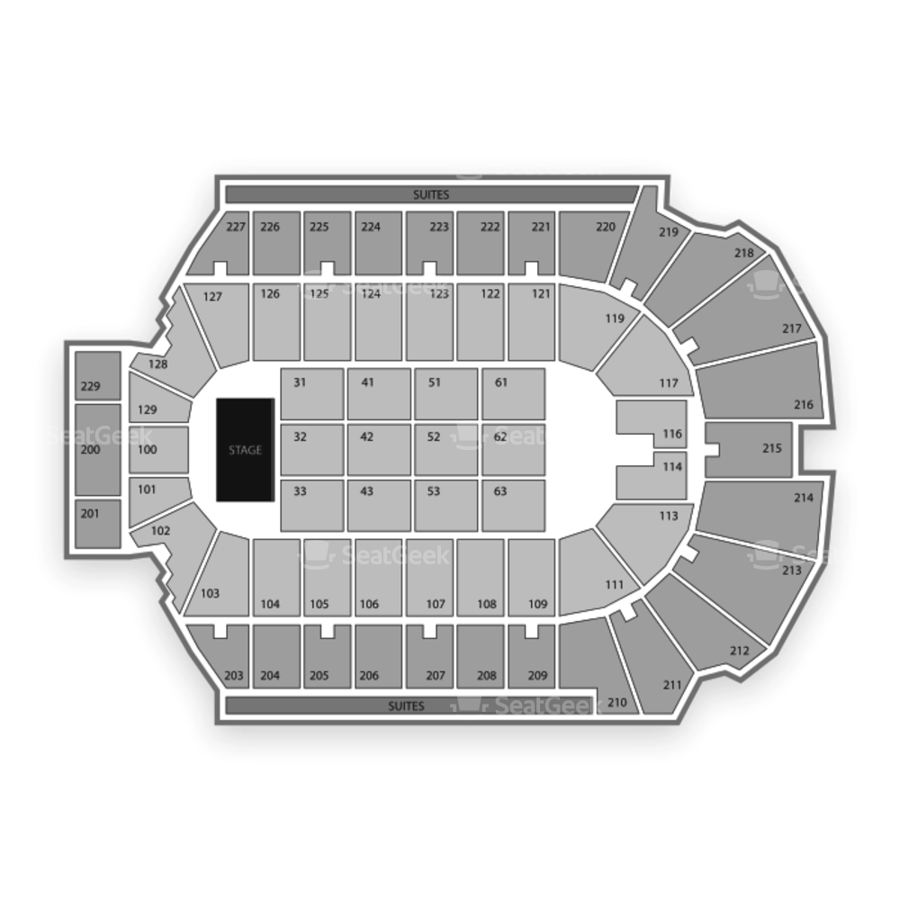 Blue Cross Arena Seating Chart Concert