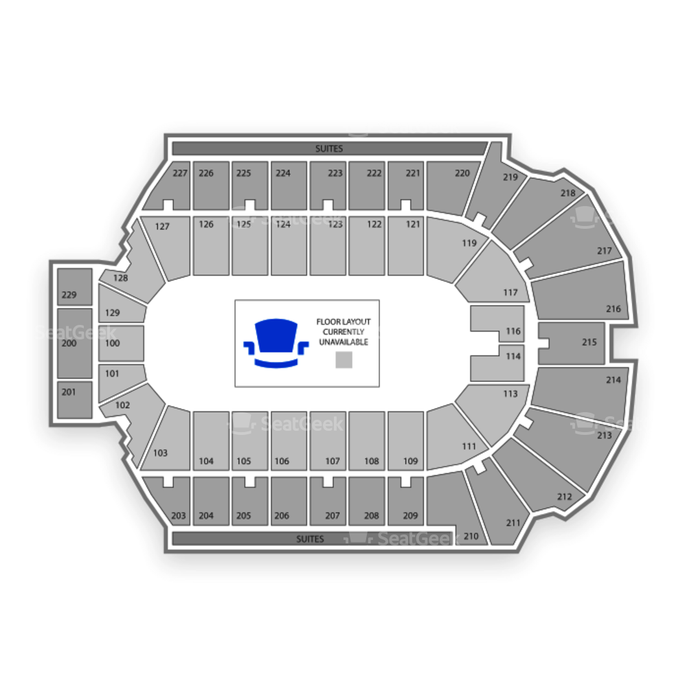 Blue Cross Arena Seating Chart Sports