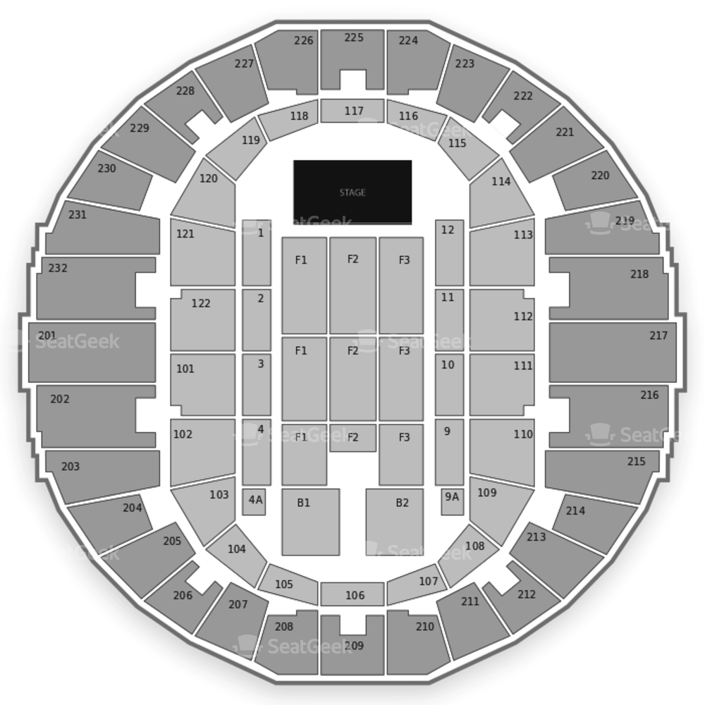 Scope Arena Seating Chart Concert