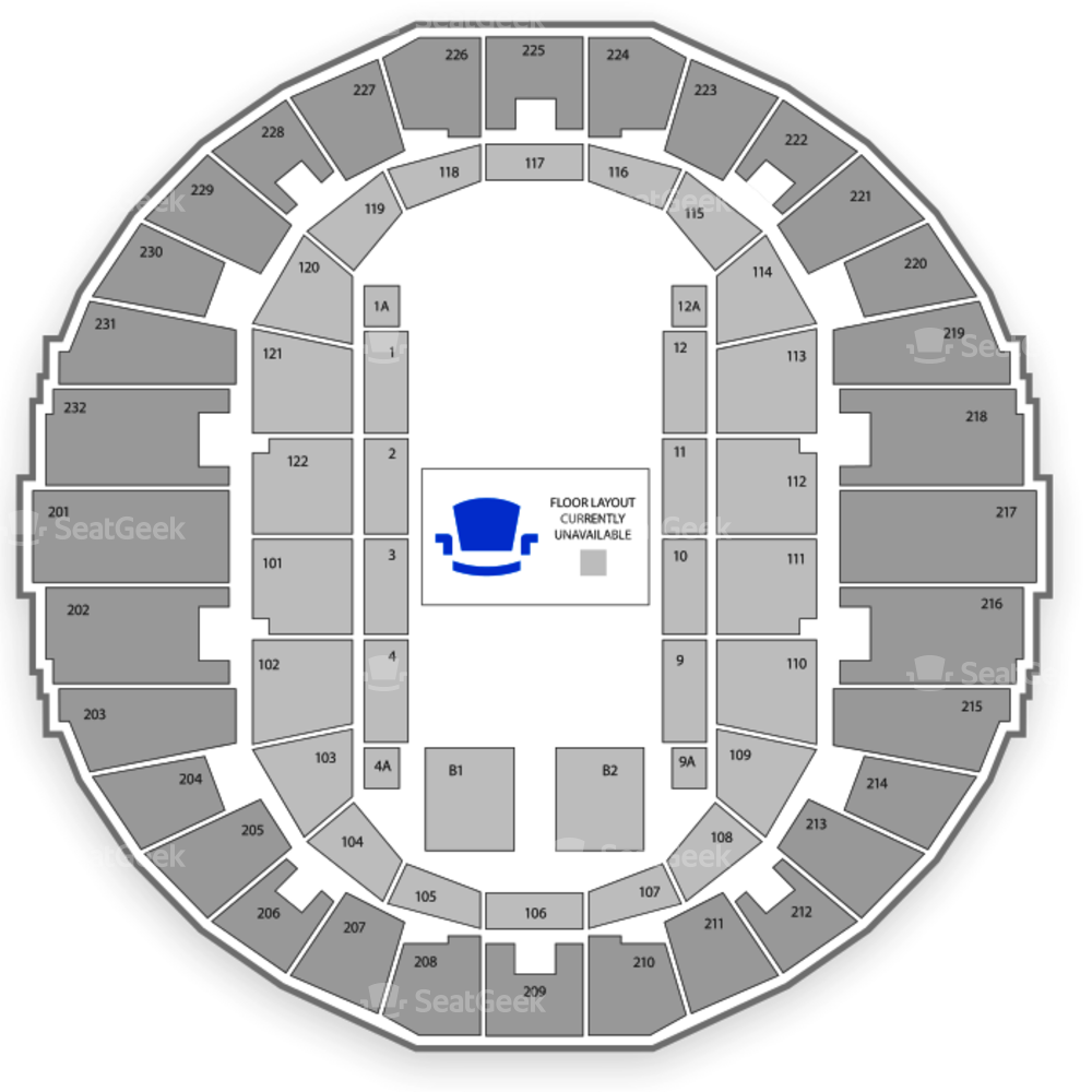 Scope Arena Seating Chart NCAA Basketball