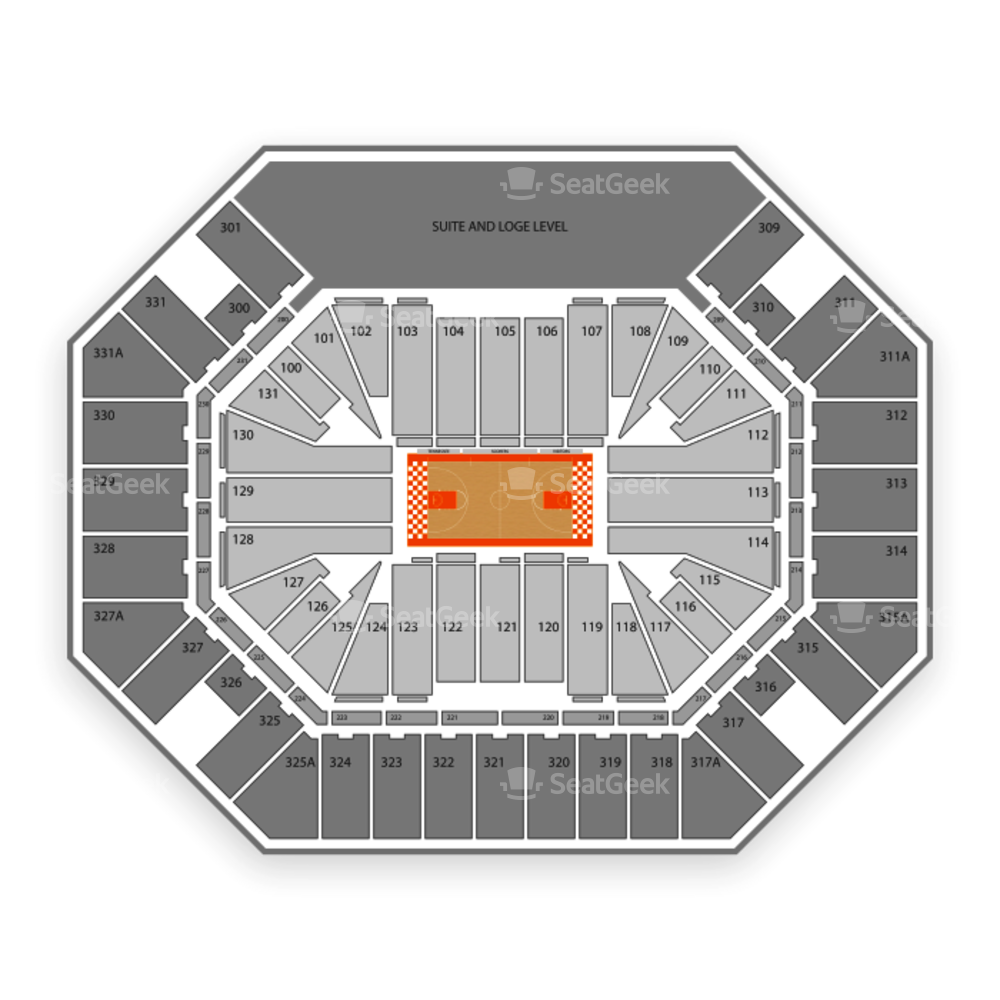 Tennessee Volunteers Basketball Seating Chart